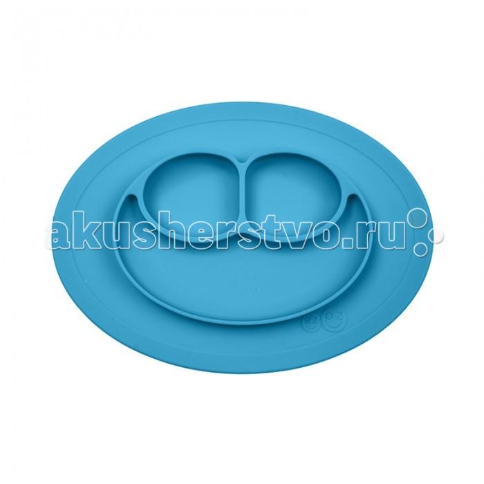 Ezpz Низкая тарелка с разделителями на овальным подносе Mini Mat 240 мл