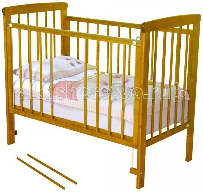 Детская кроватка Можга (Красная Звезда) Машенька С-237Машенька С-237Детская кроватка для новорожденного ребенка должна быть максимально безопасная, удобная и комфортная. Поэтому при выборе спального места для малыша следует учитывать материал, из которого произведена кровать.  Детская кроватка Машенька от фабрики Можга соответствует критериям прочности, безопасности и комфорта.  Кровать изготовлена из экологически чистого материала – массива березы, отличающейся от других материалов своей высокой прочностью и износостойкостью.  У кроватки опускается передняя стенка, обеспечивая быстрый доступ к ребенку, а для подросшего малыша, который может самостоятельно ходить, предусмотрены съемные рейки.  Характеристики: кровать изготовлена из массива березы спальное ложе регулируется по высоте (3 уровня) опускающаяся передняя стенка 2 съемные рейки в передней стенке реечное дно внешние размеры: 125 х 70 х 107 см внутренние размеры: 120 х 60 см<br>