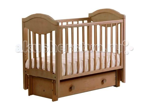 Детская кроватка Кубаньлесстрой АБ 23.2 Камелия маятник поперечный с ящиком