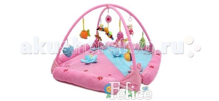 Развивающий коврик Felice Цветочная поляна с бортами