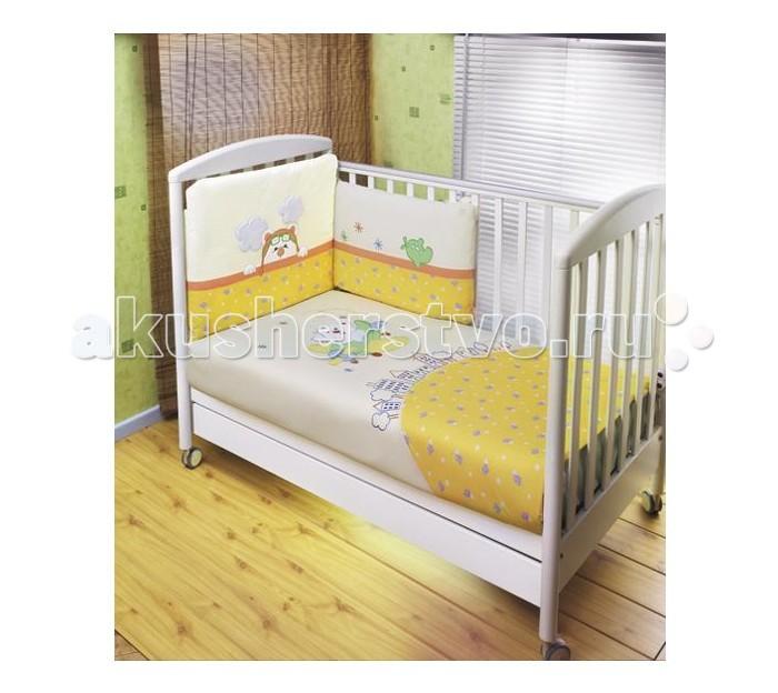 Комплект в кроватку Feretti Air Teddy Sestetto Plus (3 предмета + борт + спальный мешок + балдахин)