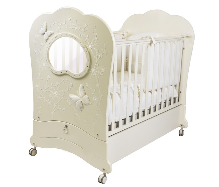 Детская кроватка Feretti FMS Oblo Charme Brillante (продольный маятник)