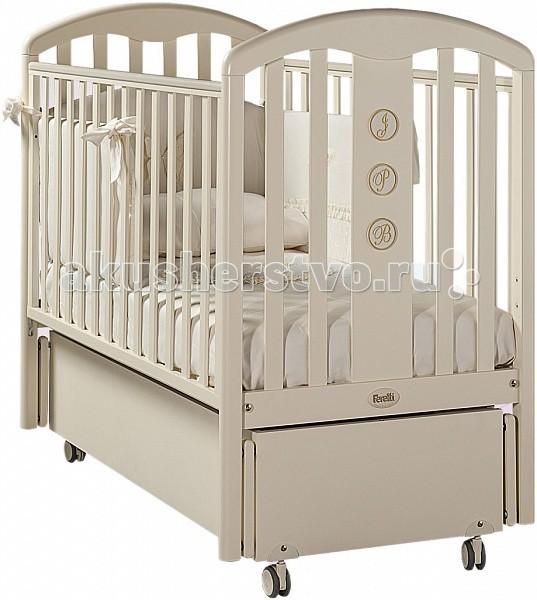 Детская кроватка Feretti Elegance Swing (продольный маятник)Elegance Swing (продольный маятник)Детская кроватка Elegance Swing с маятниковым механизмом. Кроватка изготовлена из массива бука и покрыта антиаллергенным лаком, который совершенно безопасен для детей. Так же за безопасность отвечают и силиконовые накладки, которые специально предусмотрены для того, чтобы ребенок не повредил свои молочные зубки в момент, когда ему захочется попробовать на вкус свою любимую кроватку, а отсутствие острых углов предохранит его от ударов. Два уровня высоты позволяют регулировать ортопедическое ложе по мере взросления малыша, а переднюю стенку можно будет убрать, когда она не понадобится.   Характеристики: Благодаря просторному спальному месту подходит для детей от 0 до 5 лет. Два уровня положения ложа позволяет подобрать подходящий, в зависимости от возраста ребенка. Дно спального места - реечное, оно обеспечивает надежное сцепление с матрасом. Одна стенка регулируется по высоте в двух положениях и полностью снимается, благодаря чему кроватка превращается в удобный детский диванчик. Под днищем кроватки расположен выдвижной ящик на бесшумных направляющих для постельного белья или игрушек. Маятниковый механизм продольного качания Съёмные, самоцентрирующиеся колеса снабжены 2 тормозами. Кроватка отличается высокой прочностью, экологичностью и безопасностью материалов, из которых она изготовлена. В производстве кроваток Feretti Mon Amour использовано дерево высокого качества (ценные породы дуба), МДФ, нетоксичные лако-красочные материалы и клей. Для безопасности малыша бортики снабжены силиконовыми накладками.  Размер спального места (д х ш): 125 х 65 см.<br>