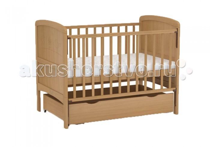 Детская кроватка Фея 821821Детская кроватка ФЕЯ-821 обладает возможностью трансформации! Подходит детям с рождения, до 3 лет кроватка используется с боковыми ограждениями, а после того, как ребенок подрос - снимаются ограждения и нижние части спинок.  Особенности:   - Размер ложа: 70 х 140 см - «Автостенка» - механизм опускания одной рукой - 2 положения ложа - Ортопедическое основание - Накладка ПВХ - Выкатной ящик из ЛДСП в цвет кровати - Материал: массив березы<br>