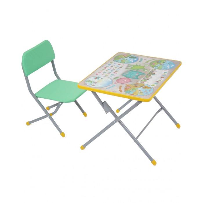 Фея Комплект детской мебели Досуг №101Комплект детской мебели Досуг №101Такой комплект мебели, состоящий из стола и стула, можно поставить в любой комнате. Предназначен он для детей дошкольного возраста.   За столиком удобно готовиться к занятиям в детском саду: рисовать, лепить, писать, складывать буквы и цифры. Внимание ребёнка привлечёт яркая столешница, которая поможет побыстрее освоить буквы и цифры.   Конструкция деревянно-металлическая, металлические элементы имеют стойкую порошковую окраску, абсолютно безопасную для здоровья ребёнка. При разработке конструкций изделий учитывались все анатомические особенности растущего детского организма.  предназначен для кормления, игр и обучения ребенка столешница - ЛДСП с цветной наклейкой легкий мобильный складной  Максимальная нагрузка на стол: 30 кг. Максимальная нагрузка на стул: 40 кг. Размер стола: 60x45x46 cм. Размер стула: 35x27.5x49 cм. Высота сидения: 26 cм.<br>