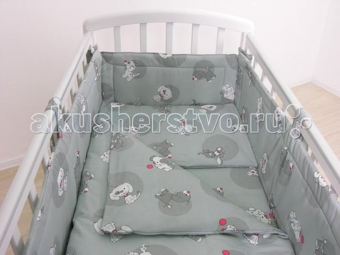 Комплект для кроватки Фея Наши друзья 120х60 (7 предметов)
