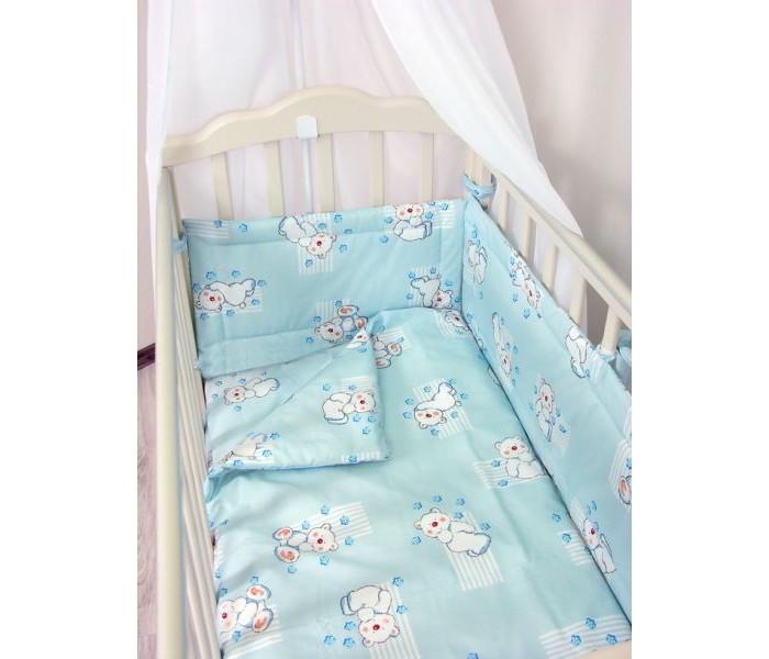 Фея Простыня на резинке МишкиПростыня на резинке МишкиПростынь на резинке подходит для детских кроваток 120х60 см.  Белье выполнено из 100% хлопка.<br>