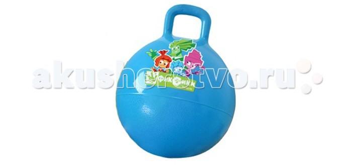 Фиксики Мяч с ручкой 45 смМяч с ручкой 45 смФиксики Мяч с ручкой — для активных игр выполнен из нетоксичного материала. Прочный и легкий. Мячик снабжен ручкой, которая позволит ребенку крепко удерживаться на мяче.  Особенности: Упругость массажного мяча может быть индивидуально настроена за счет клапана, используя любой стандартный насос Удобные ручки Вес до 50 кг Диаметр: 45 см<br>