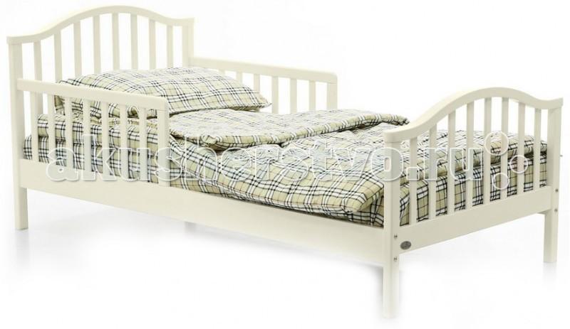Детская кроватка Fiorellino Lola 160х80Lola 160х80Кроватка Fiorellino Lola - это сочетание прекрасного качества, оригинального дизайна и доступной цены. Изготовлена кроватка из массива альпийского бука, покрыта только натуральными и нетоксичными лаками и красками, которые не выделяют никаких вредных испарений. Дизайн придется по душе Вашему подросшему ребенку, а благодаря оптимальному размеру спального места, ребенок будет чувствовать себя комфортно.  Основные характеристики:  комфортная кровать для подростка стильный дизайн: спокойные цвета, плавные линии материал: альпийский бук надёжное и прочное реечное ложе нетоксичные лаки и краски, безопасные для детей и родителей  Технические характеристики:  размер спального места: 160х80 см внешние размеры кровати (ДхШхВ): 170х80х75 см высота ложа от пола: 25 см<br>