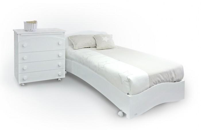 Детская кроватка Fiorellino Pompy 190х90Pompy 190х90Уютная кровать для подростков POMPY изготовлена из высококачественных альпийских буков, что растут в самом экологически чистом районе планеты. Правильная обработка древесины, которая затем пойдет на изготовление мебели Fiorellino, является залогом идеального качества. Чтобы кровать была такой же кристально чистой и экологичной, ее покрывают нетоксичными лаками и краской. Ведь самое главное - чтобы спальное место ребенка было безвредным.   Помимо отличного качества материалов, кровать является идеальной по своим функциональным свойствам. Посудите сами. Конструкторское решение позволяет расположиться на кровати комфортно. Кроме того, на ней имеются колеса, которые помогут быстро сменить положение кровати.  Современная, функциональная, идеальная кровать станет украшением детской комнаты.<br>