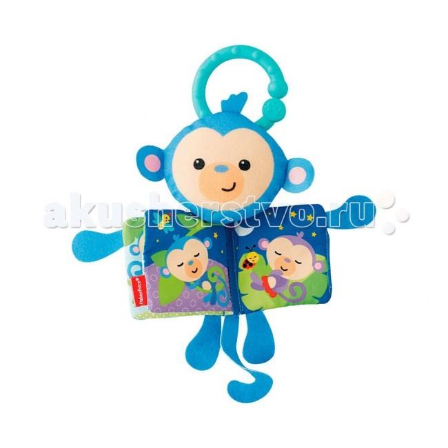 Fisher Price Мягкие подвески-книжечкиМягкие подвески-книжечкиСимпатичные подвесные книжечки очаруют вашего ребенка и будут держать его внимание в течение длительного времени.   Разнофактурные материалы и шуршащие страницы помогут развить мелкую моторику малыша.   У книжечки есть удобное колечко, за которое ее можно подвесить к развивающему коврику или коляске.  Размер игрушки: 21х16 см Размер странички: 7х7 см  В ассортименте две книжки: Тигренок или Обезьянка (цена указана за одну книжку)<br>