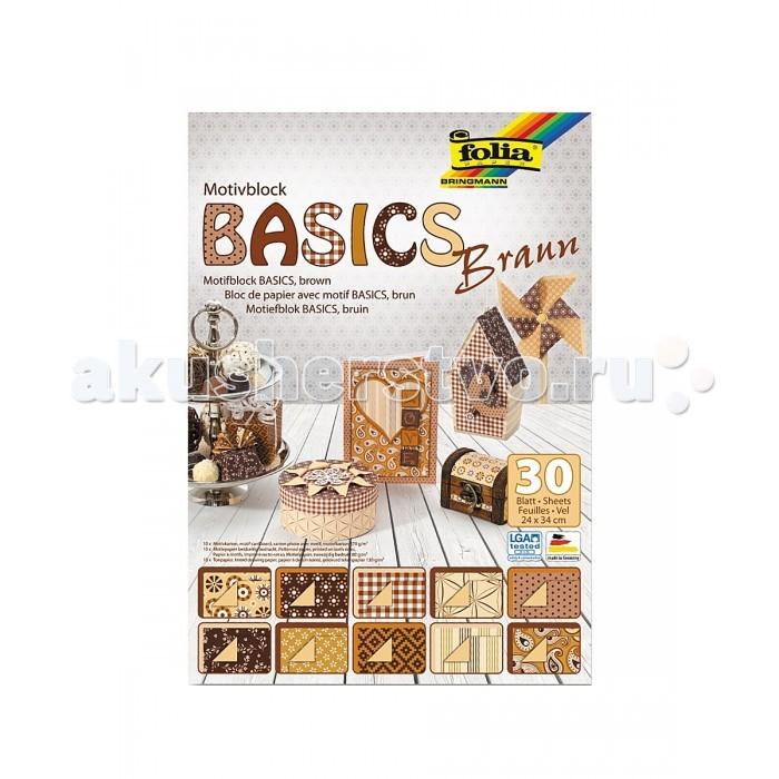 Folia Набор стильного дизайнерского картона/бумагиНабор стильного дизайнерского картона/бумагиНабор стильного высококачественного картона и бумаги в одном цветовом и стилизованном решении.   Идеально подходит для декорирования предметов интерьера, создания стильных открыток.   В наборе бумага и картон размером 240х340 мм: дизайнерский картон, 270 г/м2 (10 листов, 10 дизайнов), дизайнерская бумага, 80 г/м2, (10 листов, 10 дизайнов), тонированная однотонная бумага, 130 г/м2, (10 листов).  Folia - немецкий производитель товаров для творчества: бумаги для популярных творческих техник - скрапбукинга, квиллинга, оригами, декорирования, а также широкого ассортимента наборов для творчества.<br>
