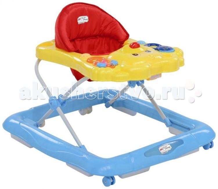 Ходунки Foppapedretti In-GiroIn-GiroЯркие ходунки Foppapedretti In-Giro позволят малышу быстрее научиться ходить и не позволят ему скучать во время отдыха.  Основание снабжено нескользящим механизмом с блокировкой-защитой от падения с лестницы. Также ходунки имеют удобное эргономичное мягкое сиденье со спинкой, легко моющееся при необходимости, и панель с игрушками, оформленную в виде забавного мишки с поднятыми лапками.  В центре панели находится кнопка в виде носика мишки, при нажатии на которую играет одна из пяти веселых мелодий, по бокам от нее в специальных выемках располагаются погремушка в виде цветочка и игрушка с двигающимися зрачками. Игрушки снабжены ручками, с помощью шнурков они крепятся к выемкам, тем самым исключая возможность падения. По обе стороны от игрушек располагается по круглому элементу, которые малыш сможет прокручивать под забавные звуки трещотки.  Занятия с ходунками разовьют у малыша координацию движений, тактильное восприятие, и мелкую моторику рук, а процесс обучения ходьбе и прогулки станут веселее и увлекательнее.   Характеристики: материал применяемый при изготовлении ходунков – пластик и алюминиевый сплав четыре колесика, два из которых поворачиваются вокруг своей оси на панели расположены музыкальные игрушки высоту можно изменять – четыре положения удобное сидение, которое легко мыть   Габариты:  общие размеры в сложенном состоянии: 70.5х60х13.5 см вес: 3.4 кг<br>