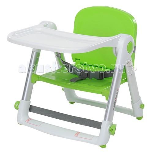 Стульчик для кормления Foppapedretti KrikKrikТакой детский стульчик можно использовать как в домашних условиях, если у Вас небольшая кухня, либо на природе, даче и т.д.  Характеристики:  легкое и компактное сложение очень просто чистится трехточечные ремешки для безопасности  Габариты:  общие размеры: 44х43х48 см<br>