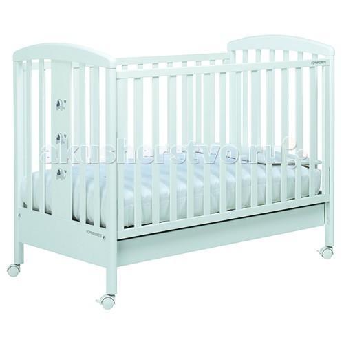 Детская кроватка Foppapedretti PakyPakyДетская кровать Foppapedretti Paky – это современные технологии и высокое качество материалов для самого комфортного и безопасного сна вашего малыша.  Для удобства мамы, боковая стенка кровати регулируется в двух положениях по высоте. Кроватка оснащена вместительным двухсекционным ящиком и прорезиненными колесиками с фиксаторами для ее легкого перемещения.  Отсутствие острых углов и идеальная обработка каркаса, современные экологически чистые материалы в соответствии с европейскими стандартами безопасности подарят малышу самые сладкие сны. Одна из спинок кровати украшена очаровательными слониками с объемными сердечками.  Особенности:  Каркас кровати выполнен из сертифицированного массива бука – прочного и долговечного материала, лучшего для малыша первых лет жизни. Он покрыт специальными нетоксичными лаком и красками, полностью безопасными для ребенка.  Передняя стенка кровати легко регулируется в двух вариантах по высоте с помощью механизма «автостенка». Кровать подходит для матраса размером 125x65 см и толщиной до 12 см. Кроватка имеет большой удобный выдвижной ящик с двумя отделениями для хранения предметов, необходимых для ухода за ребенком. Мобильность модели обеспечивают четыре поворотных резиновых колеса, не царапающие поверхность пола. Для установки в неподвижном положении на двух из них имеются стопоры Кровати Foppapedretti соответствуют самым строгим европейским стандартам безопасности, имеют жесткую систему контроля качества. В них отсутствуют мелкие детали, которые могут быть случайно проглочены ребенком, закруглены углы и края, тщательно рассчитано безопасное расстояние между прутьями. Кровати испытаны с использованием статических и движущихся объектов, что гарантирует их устойчивость даже для самых подвижных малышей. Подъем и опускание подвижной стороны кровати требует двойного действия, которое может быть выполнено только взрослыми людьми и полностью безопасно для малыша Нежный и изысканный дизайн коллекции Paky 