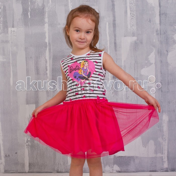 Free Age Платье ZG 15092-WF1 BarbieПлатье ZG 15092-WF1 BarbieFree Age Платье   Яркое платье от производителя детской одежды Free Age станет одним из самых удобных, носких и универсальных предметов гардероба девочки. Модель сшита из плотной хлопковой ткани с небольшим добавлением волокон эластана. Платье комфортно в носке, оно обладает отличной воздухопроницаемостью, практически не мнется, легко стирается в стиральной машине на среднем температурном режиме.   Изделие имеет свободный крой, расклешенную юбочку, длинные рукава и округлый вырез горловины. Платье выполнено в розовом цвете, декорировано ярким принтом. Оригинальный дизайн модели обязательно понравятся вашей девочке и поможет создать очень нежный образ.   Дополнительно: Состав: 92% хлопок, 8% эластан. Уход: ручная или машинная стирка при температуре не более 40 °С.<br>