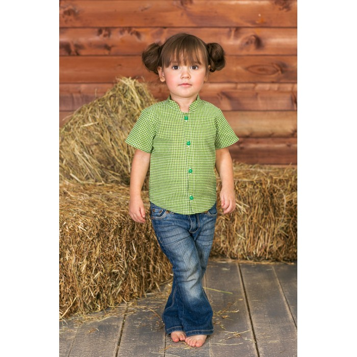 Frizzzy Рубашка детская Веселая клеткаРубашка детская Веселая клеткаFrizzzy Рубашка детская Веселая клетка  Рубашка детская из натурального материала - 100% хлопок.   Рубашка гигроскопична, для длительной носки в течение дня.  Фасон рубашки - рукава с широкой проймой, учитывают подвижность ребенка.  Прекрасно сочетается с бриджами,  брюками,  комбинезонами Frizzzy.   Стирка: автомат до 40°С<br>