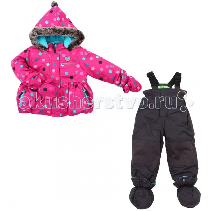 Peluchi &amp; Tartine Куртка и полукомбинезон для девочек F16M32Куртка и полукомбинезон для девочек F16M32PELUCHI&TARTINE, комлпект для девочек (куртка+полукомбинезон) из коллекции зима 2016-2017.  Состоит из куртки и полукомбинезона, изготовленных из водоотталкивающей ткани с утеплителем из изософта, а для максимального комфорта на подкладке используется флис, который сохраняет тепло.  По настоящему теплая зима: температурный режим комплекта до -30 градусов.   Водонепроницаемость 3000 мм мембраны!<br>