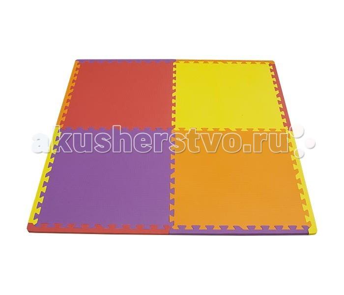 Игровой коврик FunKids Симпл-24Симпл-24Игровой коврик FunKids Симпл-24 - набор из 4 квадратных плит разного цвета.  Особенности: Благодаря большому размеру плит вам без труда удастся застелить полностью весь пол в любом помещении! Образовательный - изучайте цвета и используйте плиты как конструктор; Легко собирается - конфигурацию настила меняйте в зависимости от геометрии комнаты; Мягкая рифленная поверхность - смягчает удары при падении и поглащает шум; Безопасный - не содержит фталат, аммиак и ПВХ; Удобный - легкий и компактный для хранения и транспортировки.  Размер частей (плит): 60 см х 60 см х 1,5 см Площадь набора пазлов в собранном виде: 1,44 кв.м.   Состав: EVA foam (вспененный полиэтилен с добавлением этилвинилацетата)<br>