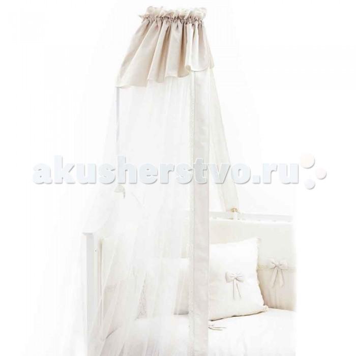 Балдахин для кроватки Fiorellino Premium BabyPremium BabyКоллекция Fiorellino Premium Baby – красивый стильный текстиль для детской комнаты, который с первых дней жизни позволит малышу почувствовать свою важность и исключительность.   Классические белый или бежевый цвета, лаконичный дизайн, натуральные мягкие ткани окружат малыша трогательным теплом. Комплекты и аксессуары декорированы тончайшим кружевом с изысканным узором – торжественно и элегантно.   Особенности: балдахин идеально подойдёт для коллекции текстиля Fiorellino Premium Baby длина балдахина – 5 метров легко стирается и быстро сохнет<br>