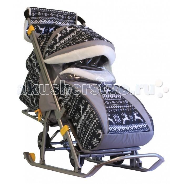 Санки-коляска Galaxy Baby Детям-1Детям-1Galaxy Baby Санки-коляска Детям-1 - это отличный выход для родителей, ценящих комфорт и удобство.  Широкие полозья позволяют санкам плавно скользить по снегу, а для передвижения по бесснежным участкам можно воспользоваться колесами Перекидная ручка позволит везти ребенка как лицом к себе, так и спиной Большой удобный чехол для ножек, который застегивается на молнию с двух сторон, не даст малышу замерзнуть, а капюшон убережет его от ветра и осадков Спинка санок регулируется в трех положениях, угол наклона в сидячем положении составляет девяносто градусов Производитель этих санок с колесами позаботился и о маме, включив в комплект теплую муфту и сумку, в которую можно сложить все необходимые на прогулке аксессуары.  Возраст: от 6 месяцев Комплект: санки-коляска, сумка, муфта, чехол для ног Допустимый вес эксплуатации: 50 кг Ширина полозьев: 4 см Вес: 15 кг<br>