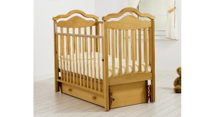 Детская кроватка Гандылян Анжелика (универсальный маятник) - Натуральный