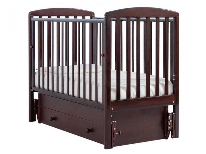 Детская кроватка Гандылян Полина (универсальный маятник) - Махагон