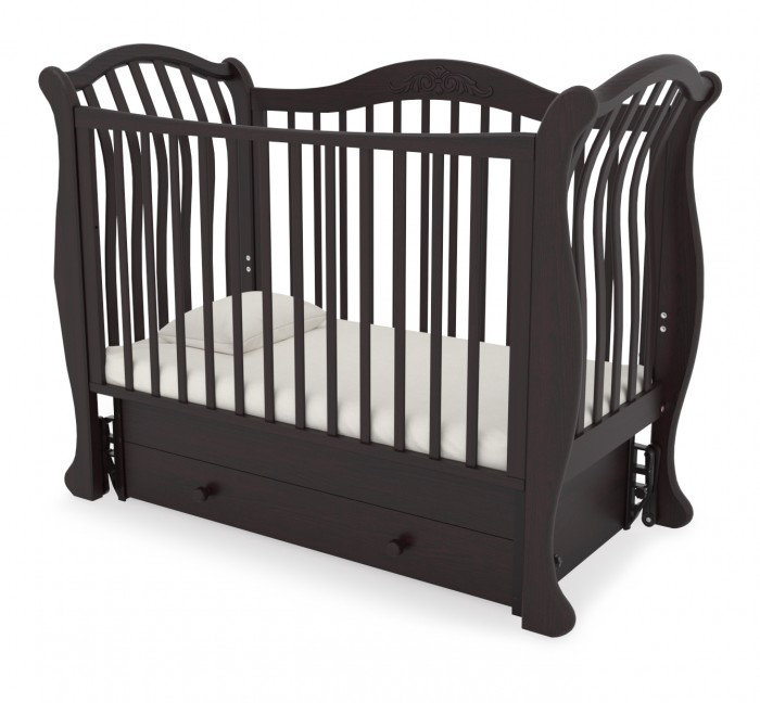 Детская кроватка Гандылян Габриэлла люкс ( универсальный маятник) - Махагон