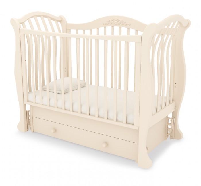 Детская кроватка Гандылян Габриэлла люкс ( универсальный маятник) - Слоновая кость