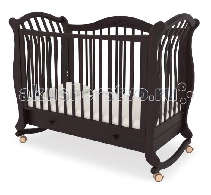 Детская кроватка Гандылян Габриэлла люкс (качалка) - Махагон