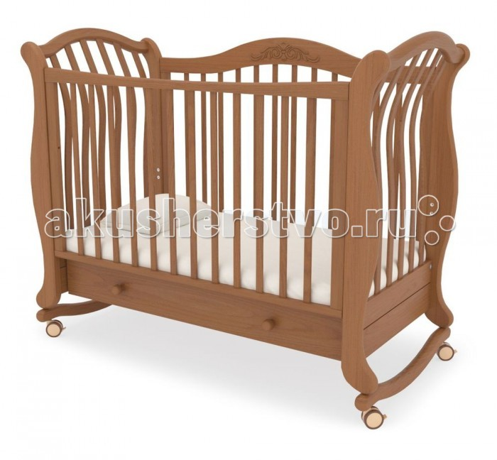 Детская кроватка Гандылян Габриэлла люкс (качалка) - Вишня