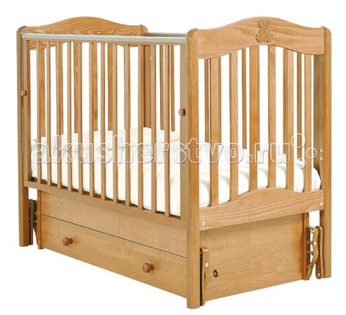 Детская кроватка Гандылян Ванечка (универсальный маятник) - Натуральный