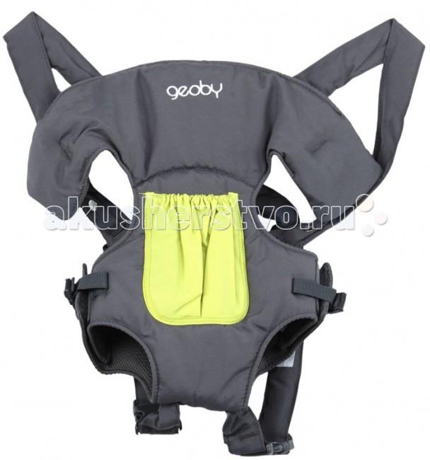 Рюкзак-кенгуру Geoby 05BD0205BD02Рюкзак-кенгуру Geoby BD02 предназначен для переноски детей от 3 месяцев. Подходит для детей весом от 3,5 до 11,5 кг. Удобен, практичен и безопасен в использовании. Находясь в рюкзаке-переноске на груди у мамы, ребенок всегда будет чувствовать себя в безопасности, а у мамы будет больше времени и возможности заниматься своими делами, при этом, уделяя внимание ребенку.   Особенности: - Материал – х/б ткань. - Удобный съемный подголовник. - Высокая спинка. - Система регулирования высоты и ширины. - Расположение ремней на спине – «крест – накрест». - Карманчик для «мелочей». - Два положения ношения ребенка – «лицом» к маме, «лицом» по ходу движения.  Габариты: - Объем упаковки 0,007 м3. - Вес 0,5 кг.<br>