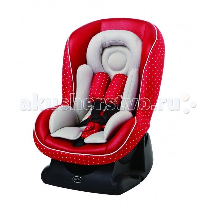 Автокресло Geoby Omni GuardOmni GuardОснова детского автокресла, его каркас, выполнен из пластика.  Автокресло может монтироваться в машине в двух направлениях: назад лицом (при весе малыша до 10-ти кг.) и вперёд лицом (при весе от 10-ти до 18-ти кг). На пятиточечных ремнях безопасности есть мягкие накладки.  Регулировка ремней по длине производится в трёх положениях.   Это кресло обеспечит безопасность и удобство вашего малыша на дороге. На кресле имеются подробные картинки-инструкции о том, как переставлять и фиксировать спинку. Дети настолько комфортно чувствуют себя в таком сиденье, что очень часто засыпают в дороге.  Особенности: Крепление - штатными ремнями а/м С рождения до 4-х лет Прочная конструкция Мягкое и удобное сидение Регулируемый наклон спинки (4 положения) Регулируемые ремни безопасности с мягкими накладками (4 положения) Ремни имеют практичные застежки Съемный вкладыш для малышей Эргономичный подголовник для удобства и дополнительной защиты головы Соответствует европейскому сертификату ЕСЕ 44/04. Размер (ДхШхВ): 61х48х67 см. Вес: 7 кг.<br>