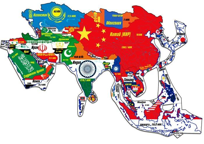 Геомагнит Магнитный пазл Азия 44 элементаМагнитный пазл Азия 44 элементаГеографический магнитный пазл Азия - пазл (пакет, 44 элемента), в котором элементами являются страны Азии (за исключением азиатской части РФ) и Ближнего Востока в контурах своих географических границ.  Пазл собирается в политическую карту, на которой все части света выполнены в единой картографической проекции и одном масштабе.  Контурный магнитный пазл помогает изучать названия государств, их столиц и национальные флаги, размеры стран и форму их границ и взаимное расположение, соседство стран и регионов и примерную актуальную численность населения государств.  Пазл можно собирать как на ровной горизонтальной поверхности, так и на ровных вертикальных металлических поверхностях - магнитно-маркерной доске или холодильнике.<br>