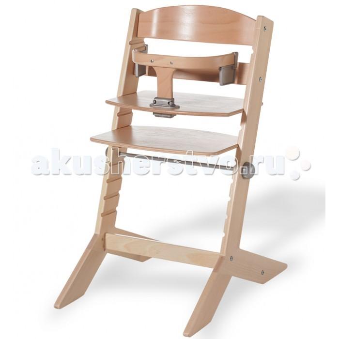 Стульчик для кормления Geuther SytSytСтул высокий Syt  Высокий стульчик для кормления изготовлен из натуральных материалов и покрыт гипоаллергенной краской. Подходит для малышей от 6 мес. при условии, что малыш уже умеет присаживаться.  Классический деревянный стульчик без излишеств – первое впечатление, которое произведет модель на неискушенного родителя. Искушенный же сразу заметит, что модель гармонична и продумана до мелочей. Здесь нет вычурных элементов декора, отвлекающих от строгих форм деревянной конструкции.  Модель – пример функционального дизайна. Ничто не существует само по себе – каждая деталь имеет свое назначение. Удобно, стильно, просто – суть дизайнерской концепции.   Функциональные характеристики: Регулируется по высоте подставка для ног и сиденье Может использоваться взрослыми после того, как ребенок вырастает Изготовлен из массива бука Обладает превосходной устойчивостью Покрашен краской на водной основе Столик для кормления и мягкая вставка для стула приобретаются отдельно<br>