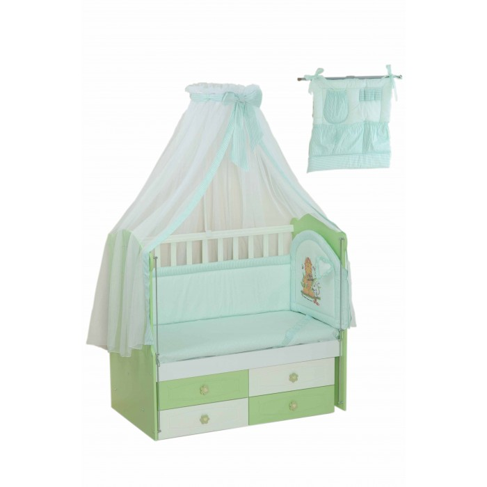 Комплект в кроватку Селена (Сдобина) для новорожденного 17 (8 предметов)