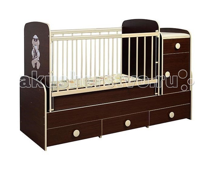 Кроватка-трансформер Glamvers Comfort Plus (поперечный маятник)