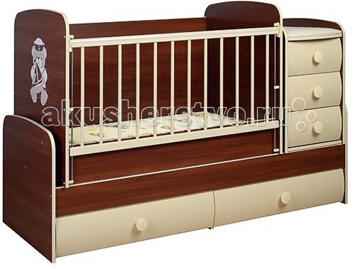 Кроватка-трансформер Glamvers Comfort VIP (поперечный маятник)