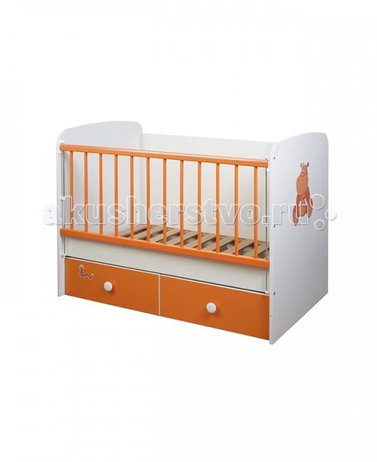 Детская кроватка Glamvers Magic цветная (поперечный маятник)