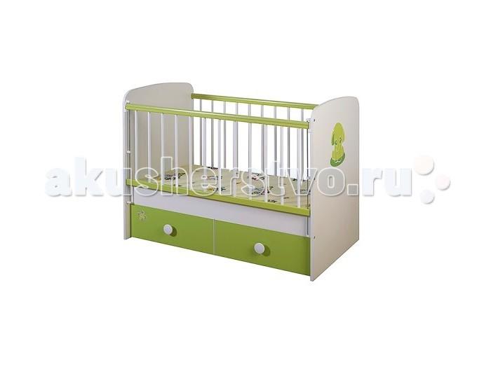 Детская кроватка Glamvers Magic Plus цветная (поперечный маятник)