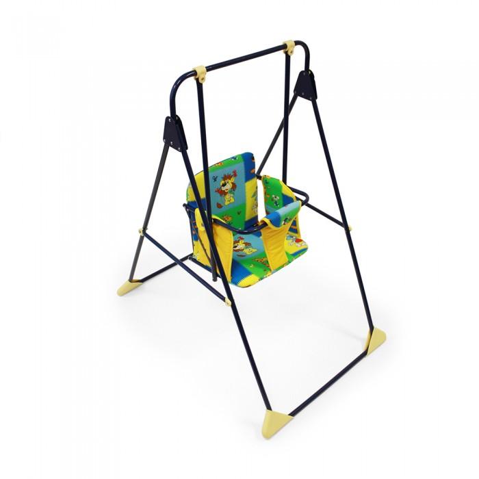 Качели Globex ВетерокВетерокКачели Ветерок всегда создадут много задора и радости для вашего малыша! Основа - прочный металлический облегченный каркас. Эти качели вы можете разместить где угодно: во дворе, на улице, в квартире или в доме! Механизм крепежа абсолютно прост и надежен. Легко складываются, в сложенном виде занимают мало места.  Характеристика:  компактный размер в сложенном виде мягкая, приятная на ощупь легко моющимся обивка сиденья в качестве обеспечения безопасности у качелей предусмотрены высокие ограничительные подлокотники бампер-поручень для ручек ребёнка широкий мягкий ограничительный ремешок между ножек, для защиты от выскальзывания вниз окрашивание – порошковое, устойчивое к воздействиям внешней среды каждое качание будет Вашему малышу только в радость для изготовления качелей используются экологически чистые материалы и антитоксичные покрытия размеры в разложенном виде (ШxГxВ): 56х72х107 см рекомендована для детей от 6 месяцев до 2 лет  Для изготовления качелей используются экологически чистые материалы и антитоксичные покрытия.  Вес в упаковке: 3 кг.<br>