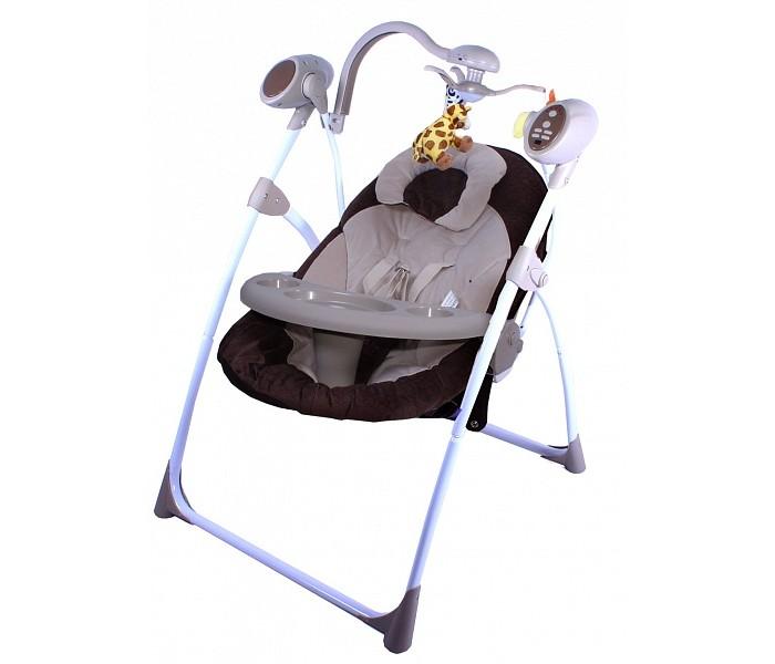 Электронные качели Gold baby Loving Hug GD102Loving Hug GD102Стильные электрокачели для новорожденных. Очень мобильная модель предназначена специально для родителей, которые не сидят на месте.   Особенности: легко и компактно складываются очень удобное сиденье игрушки на крутящейся вертушке над головой ребенка 6 скоростей качания мягкая музыка с таймером матрасик на сиденье, который можно стирать  Питание от 3-х батареек D-LR20 (1.5V)  Сертификат РСТ / Европейский сертификат соответствия СЕ<br>