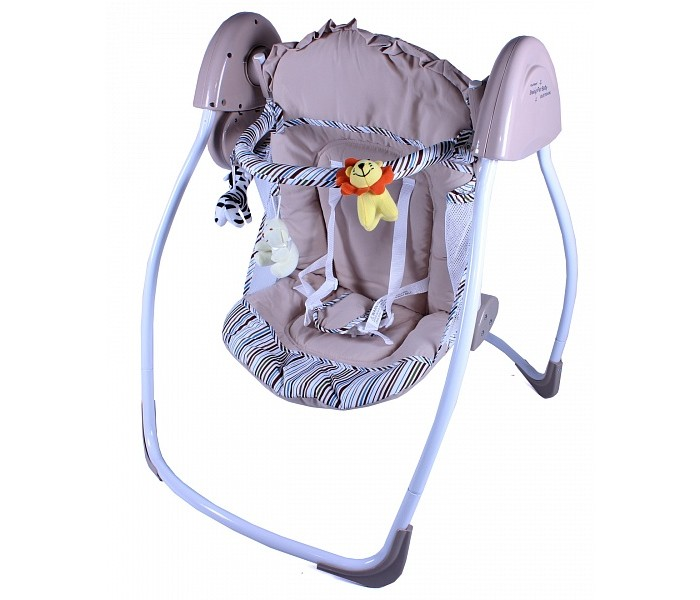 Качели электронные Gold baby Loving Hug GD109Loving Hug GD109Качели электронные Gold baby для дома и путешествий, удобные и легкие, подойдут для детей в первые месяцы жизни. Идеально при использовании во время дневного сна и стимулирует интерес ребенка к окружающему миру.   Особенности: Комфортное широкое сиденье Устойчивая конструкция Оригинальный дизайн - прекрасно вписывается в любой интерьер  Ручное качание  Пятиточечные ремни безопасности  Съемные покрытия можно стирать  Максимальная нагрузка от 0 до 9 кг  Соответствует стандарту безопасности  Легко хранить и перевозить<br>