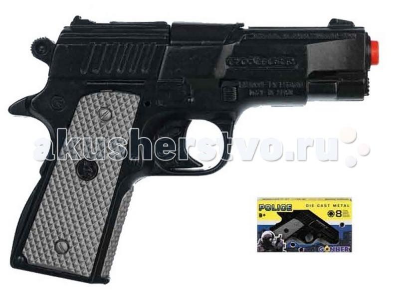 Gonher Игрушка Пистолет Police 46/6Игрушка Пистолет Police 46/6Gonher Пистолет Police на 8 пистонов, который сделан известным испанским производителем игрушечного оружия.   Особенности: Модель изготовлена из металла наивысшего качества.  Тщательно продуманная конструкция пистолета обеспечит максимальную безопасность ребенка во время игры.  Пистоны для оружия приобретаются отдельно.  Оригинальный дизайн и высокая реалистичность обязательно понравятся вашему мальчику.<br>