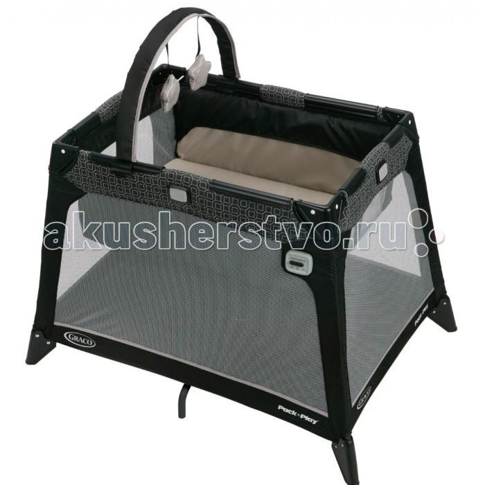 Манеж Graco дорожный Nimble Nookдорожный Nimble NookСамая компактная дорожная кроватка идеально подойдет для путешествий с малышом.  Компактная конструкция, трапециевидная форма и легкие материалы делают эту кроватку мобильной и практичной.   Особенности: Удобный механизм складывания.  С рождения до 3х лет (0-15 кг).  Колыбель с рождения до достижения веса 6,5 кг.  Механизм вибрации.  Мобиль с игрушками в комплекте. Размер: 68,6 x 98,5 x 68,6 см Размер упаковки: 26x70x22 см, 0.04 м3<br>