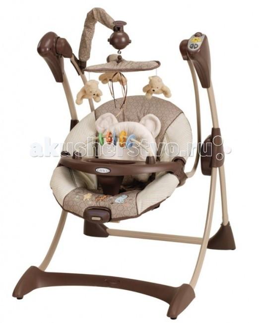 Качели электронные Graco SilhouetteSilhouetteМаксимальная нагрузка: до 9 кг  разбираются для хранения  очень удобное сиденье  4 позиции наклона сиденья  поддержка для головы  игрушки на крутящейся вертушке над головой ребенка съемный столик для того, чтобы малыш мог легко заходить/выходить из качелей (игрушек на подносе нет - для всех расцветок)   2 скорости вибрации сиденья  мягкая музыка с таймером.  Для работы кресла-качели нужно 5 батареек LR 20, 1,5 V.  Четыре батарейки нужны для работы качания и музыки и одна для вибрации.   Внимание! В зимнее время перед использованием качели обязательно должны нагреться до комнатной температуры. Пожалуйста, подождите несколько часов, иначе есть возможность повредить электронный блок!<br>