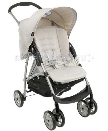 Прогулочная коляска Graco Mirage Plus W/parent Tray&amp;BootMirage Plus W/parent Tray&amp;BootПрогулочная коляска Graco Mirage Plus W/parent Tray&Boot со столешницей и накидкой для ножек комфортная для малыша и удобная в управлении для мамы. Легкая и маневренная прогулочная коляска Graco Mirage Plus проста в обращении, компактно складывается для транспортировки и хранения. Комфорт и уют для малыша: простота маневрирования в ограниченном пространстве и узких проходах, благодаря передним поворотным колесам широкое регулируемое сидение с мягкими комфортными накладками 3 положения спинки обеспечивают малышу комфорт, когда он спит или сидит в сложенном состоянии стоит без опоры поднос для игр, также служит ограждением большая легкодоступная корзина комфортабельная подушка сиденья  автоматический замок фиксирует коляску в сложенном положении, упрощая ее транспортировку  сиденье снимается и стирается  во время прогулки мама имеет возможность наблюдать за ребёнком через солнцезащитное, затемнённое окошко, расположенное в верхней части капюшона  эргономичная ручка  Надежность:  высококачественная прочная рама гарантирует комфорт и безопасность вашего малыша стальная рама  капюшон с верхним окошком для возможности наблюдения за малышом и хорошая защита от солнца (ткань прошла испытания на устойчивость к УФ-лучам 5-точечный ремень для надежного крепления ребенка  простая и практичная моментальная система складывания, позволяет вам сложить коляску одной рукой, удерживая ребенка  Колеса: передние поворотные, с фиксаторами в переднем направлении задний ножной тормоз  поворотность колёс даёт возможность легко и плавно повернуть коляску в нужном направлении   В комплекте: в верхней части коляски расположен столик для мамы  накидка на ноги  Дополнительная информация:  возможность установки автокресла Graco группы 0+ устанавливающаяся одним щелчком система путешествий Graco позволяет переносить ребенка из машины в коляску или домой не разбудив его размеры в разложенном виде ШхДхВ 49х