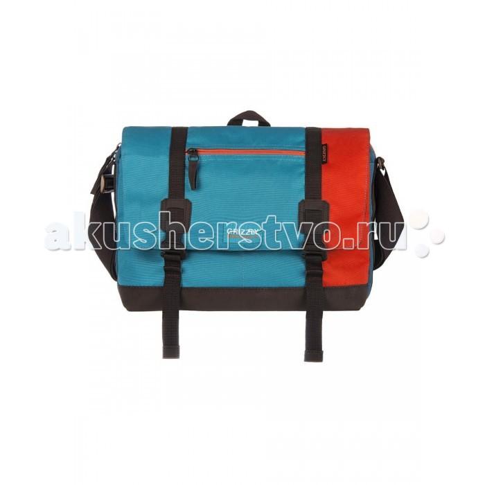 Grizzly MM-619-3 Сумка молодежнаяMM-619-3 Сумка молодежнаяMM-619-3 Сумка молодежная Grizzly   Таслан 676, экокожа  Молодежная сумка: одно отделение,  клапан на застежках с карманом на молнии,  передний карман,  плоский передний карман на молнии,  задний карман на молнии,  внутренний карман для ноутбука/планшета,  внутренний карман на молнии,  дополнительная ручка-петля,  регулируемый плечевой ремень.<br>
