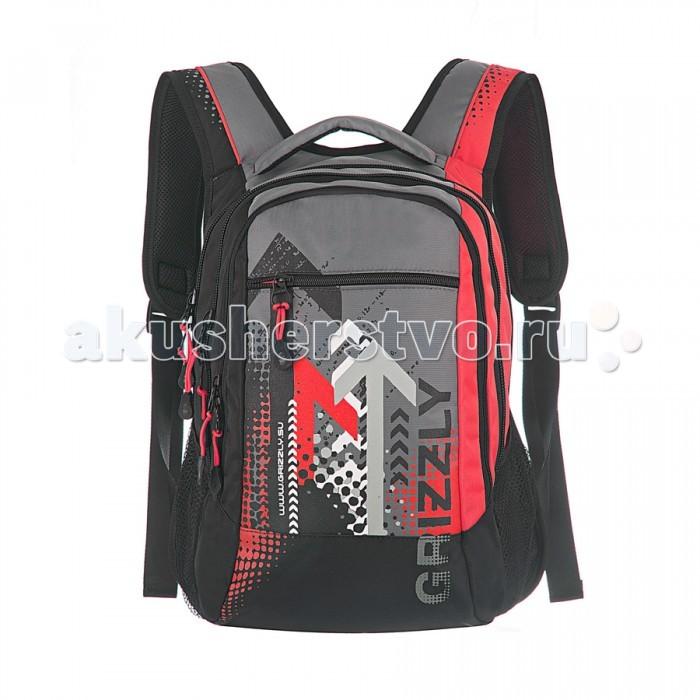 Grizzly Рюкзак RU-506-1Рюкзак RU-506-1Grizzly Рюкзак RU-506-1 выполнен из очень легкой, эластичной ткани высокой прочности. Она устойчива к износу, хорошо стирается и быстро сохнет, сохраняя свою форму.  Особенности: рюкзак школьный три отделения  карман на молнии на передней стенке  боковые карманы из сетки внутренний карман-пенал для карандашей внутренний подвесной карман на молнии жесткая анатомическая спинка  мягкая укрепленная ручка  укрепленные лямки.<br>